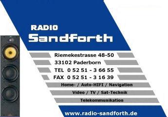 Radio-Sandforth Paderborn Visitenkarte