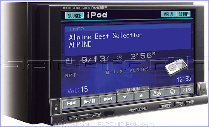 alpine iva w 202 r car dvd mp3 cd spieler 200 watt farbmonitor bluetooth plug ebay. Black Bedroom Furniture Sets. Home Design Ideas
