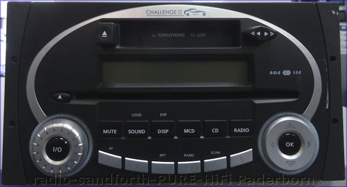 grundig challenge cl 2200 autoradio mit cd player cassette. Black Bedroom Furniture Sets. Home Design Ideas