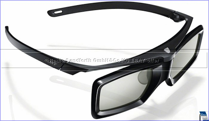 sony tdg bt500a aktive 3d brille mit hf konnektivit t und simulview ebay. Black Bedroom Furniture Sets. Home Design Ideas
